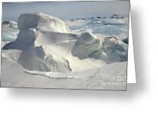 Pack Ice, Antarctica Greeting Card