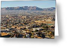 Panoramic View Of Skyline And Downtown Greeting Card