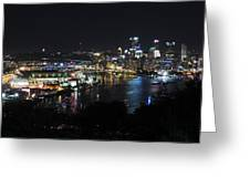 Pittsburgh Skyline At Night Greeting Card