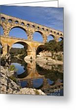 Pont Du Gard Greeting Card by Brian Jannsen