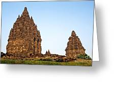Prambanan Temple In Indonesia Greeting Card