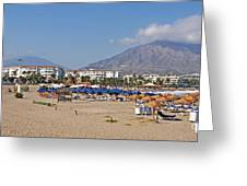 Puerto Banus Beach Greeting Card