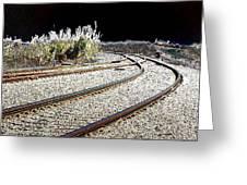 Rails Of Hope Greeting Card