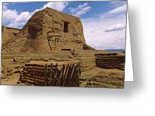 Ruins Of The Pecos Pueblo Mission Greeting Card