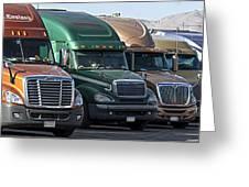 Semi Truck Fleet Greeting Card