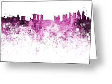 Singapore Skyline In Watercolour On White Background Greeting Card
