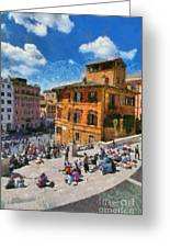 Spanish Steps At Piazza Di Spagna Greeting Card