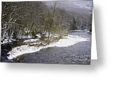 Spring Snow Williams River  Greeting Card