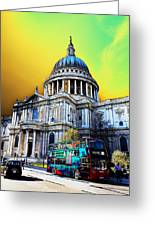 St Pauls Cathedral London Art Greeting Card