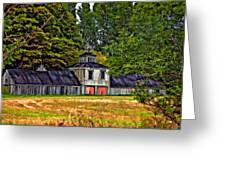 5 Star Barn Paint Filter Greeting Card