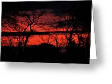 Sunrise Over The Fields Of Athenry Greeting Card
