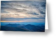 Sunset View Over Blue Ridge Mountains Greeting Card