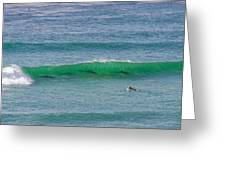 5 Surfers Greeting Card