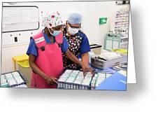 Surgery Preparations Greeting Card