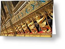 Temple In Grand Palace Bangkok Thailand Greeting Card