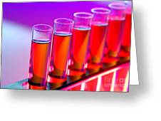 Test Tubes In Science Research Lab Greeting Card