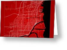 Thunder Bay Street Map - Thunder Bay Canada Road Map Art On Colo Greeting Card