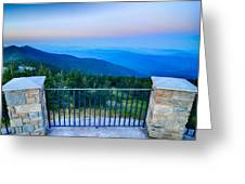 Top Of Mount Mitchell Before Sunset Greeting Card