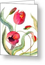 Tulips Flowers Greeting Card