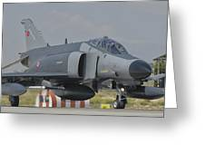 Turkish Air Force F-4 Phantom At Konya Greeting Card