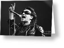 U2 - Bono Greeting Card