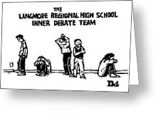 The Langmore Regional High School Inner Debate Greeting Card