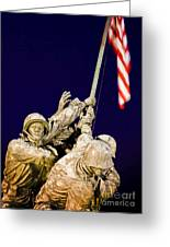 Us Marine Corps Memorial Greeting Card