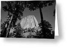 Usa, Wyoming, Hulett, Devil's Tower Greeting Card