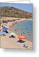 Vai Beach Greeting Card