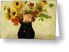 Vase Of Flowers Greeting Card by Odilon Redon