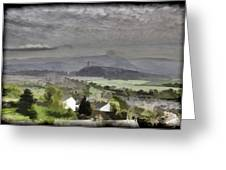 View Of Wallace Monument And Surrounding Areas Greeting Card