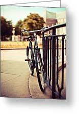 Vintage Bike Greeting Card