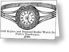 Watch Bracelet, 1891 Greeting Card