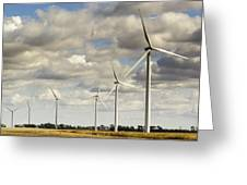 Wind Powered Electric Turbine Greeting Card