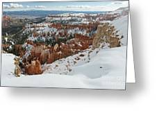 Winter Scene, Bryce Canyon National Park Greeting Card