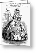 Women's Fashion, 1860 Greeting Card