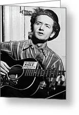 Woody Guthrie (1912-1967) Greeting Card