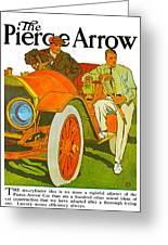 The Pierce Arrow Greeting Card