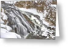 Yellowstone Falls Greeting Card by David Yack