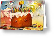 50 Candles The Big B Day Greeting Card