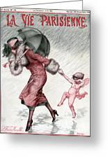 La Vie Parisienne 1924 1920s France Greeting Card