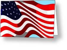 50 Star American Flag Closeup Abstract 7 Greeting Card