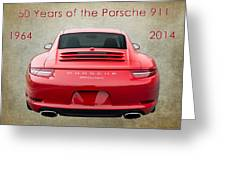 50 Years Of The Porsche 911 E182 Greeting Card