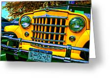 51 Jeepster Greeting Card