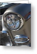55 Bel Air Headlight-8200 Greeting Card
