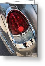 55 Bel Air Tail Light-8184 Greeting Card
