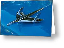 55 Chevrolet Hood Ornament Greeting Card