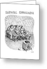 Rational Exuberance Greeting Card