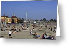 558 Pr Santa Cruz Main Beach Greeting Card