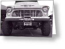 56 Chevy Truck In Bw Greeting Card